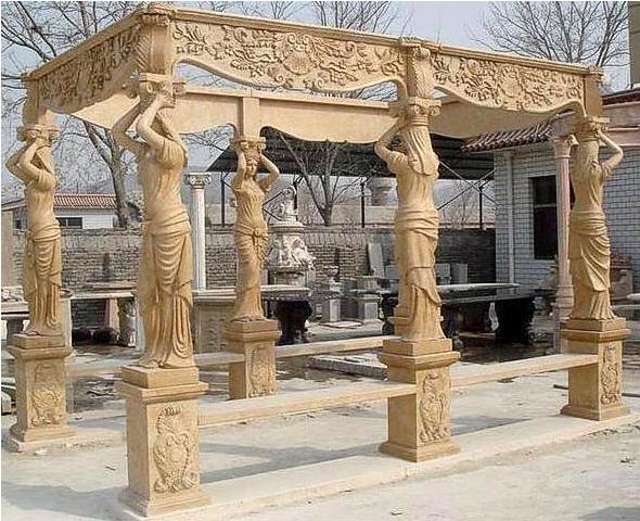 Outdoor Stone Pillars : Statues